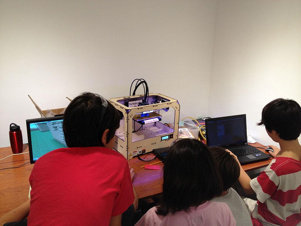 Maker Kids using Minecraft