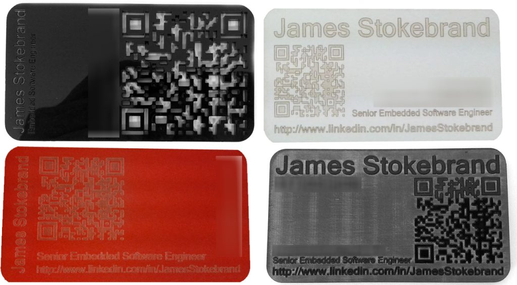 Scan this diy lasercut business cards with qr codes colourmoves