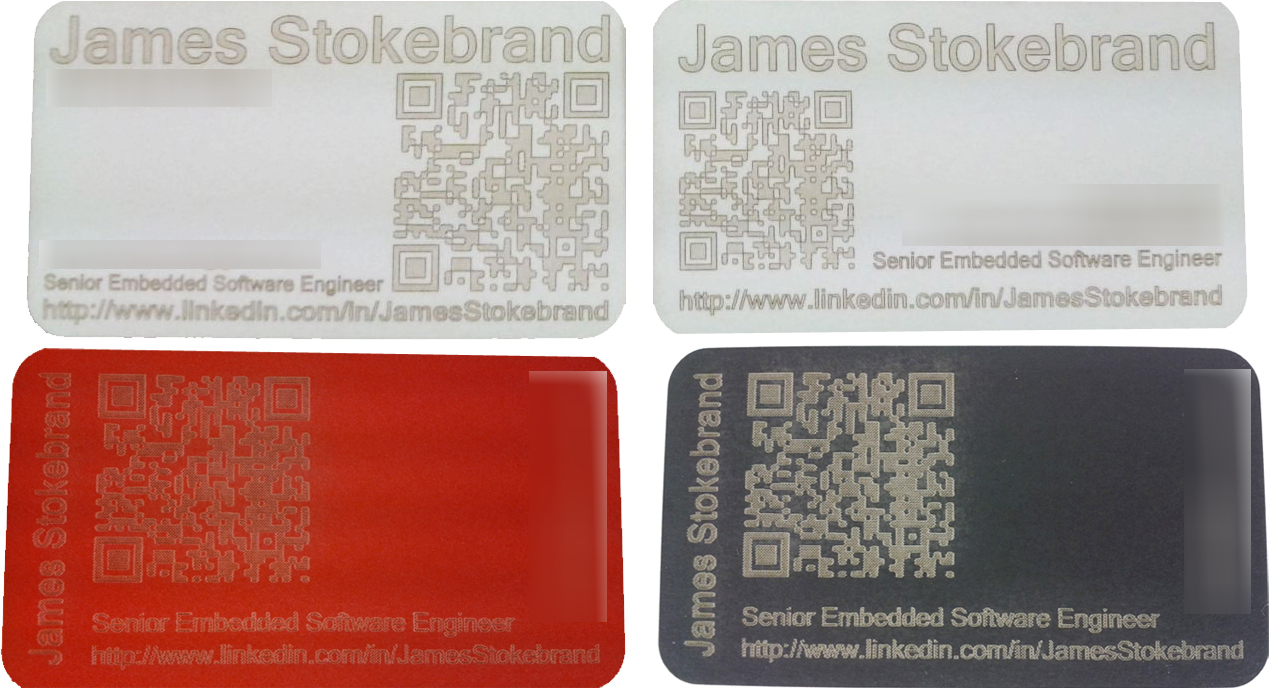 Scan this, DIY lasercut business cards with QR codes