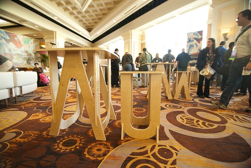 CNC game tables and stools for Autodesk University « Ponoko – Blog