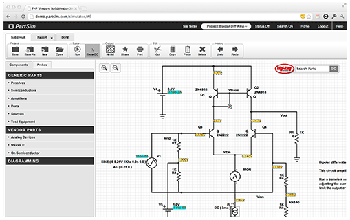 new online electronic circuit simulator