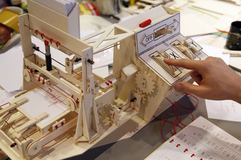 A Functional Mini Plotter Made With Cardboard Glue Wire