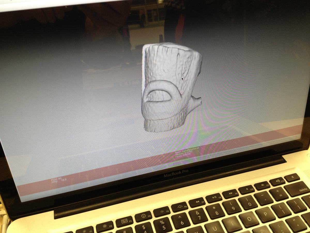 Action Log 3D scan