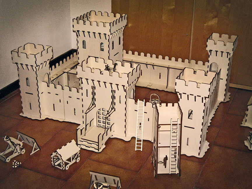 Awesome Laser Cut Castle Under Attack Features Working