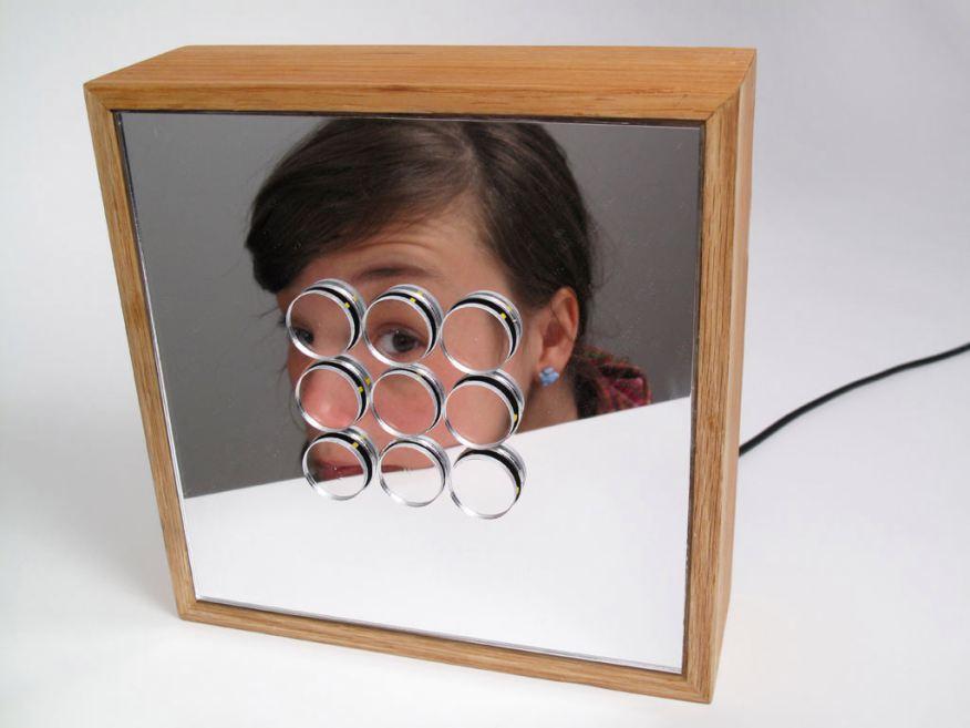 Laser cut vibrating mirror ponoko