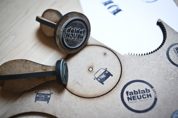 creative promotional product ideas - laser cut stamp