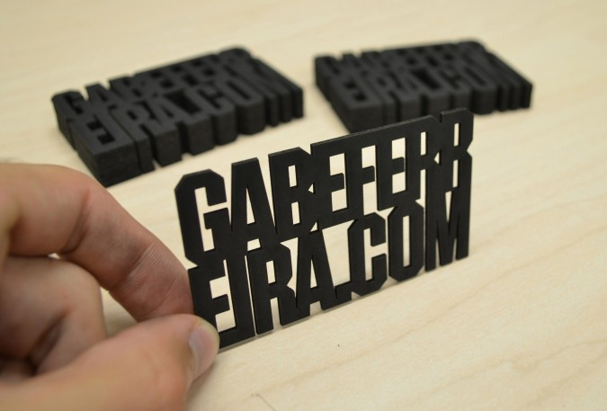 creative promotional product ideas - laser cut business cards