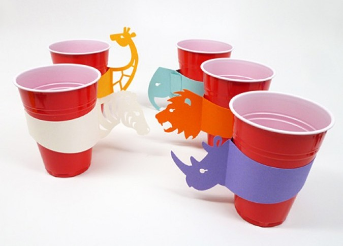 creative promotional product ideas - laser cut cup holder