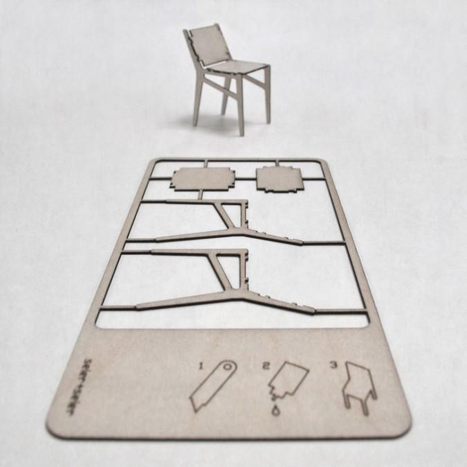 laser cut pop-up chair card