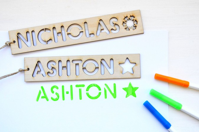 creative promotional product ideas - wood name stencils