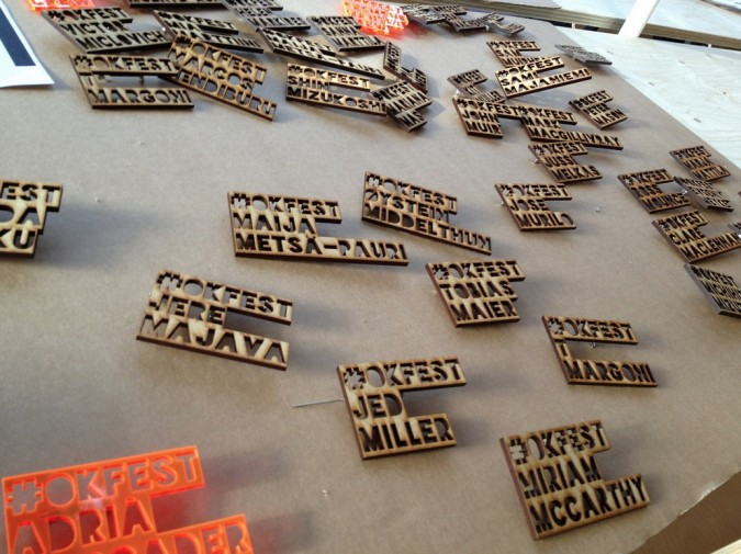 creative promotional product ideas - wood name tags