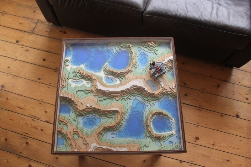 Topographic Coffee Table Inspired By Minecraft - Topographic coffee table
