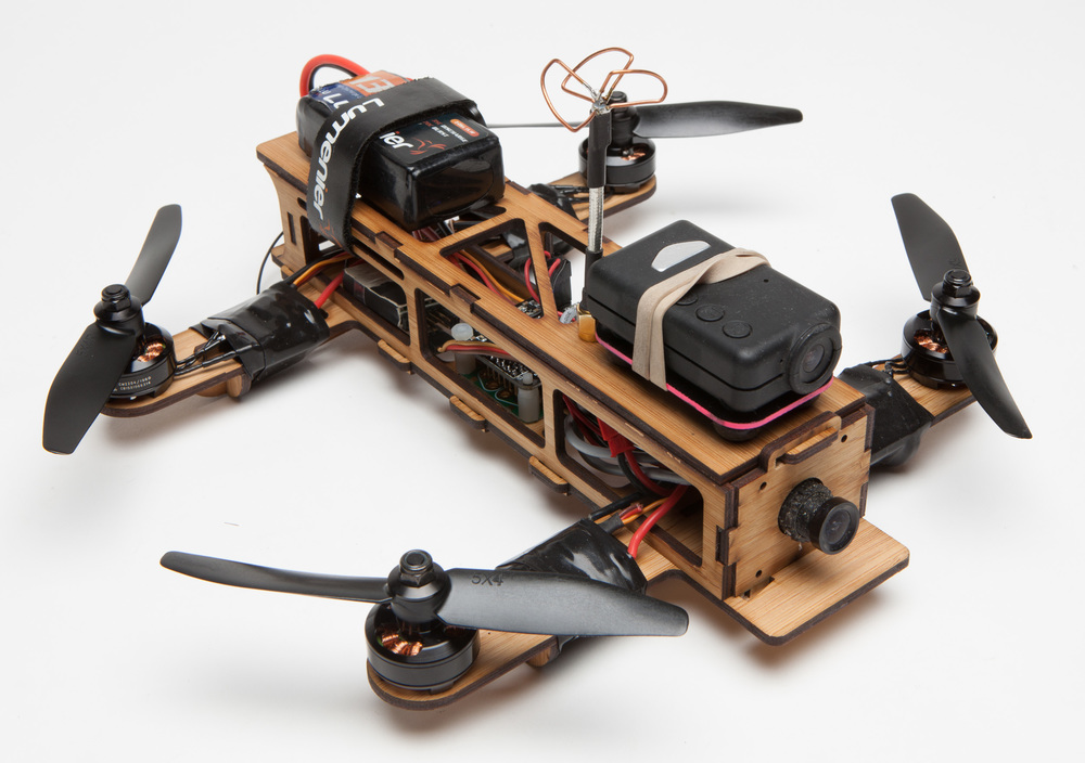 Booboo - The Interlocking Bamboo Drone