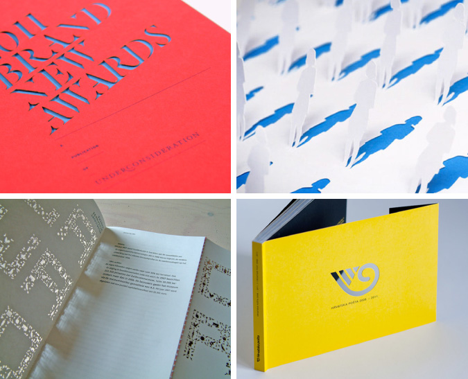 creative promotional product ideas - laser cut annual reports and catalogs