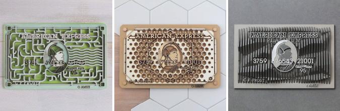 WoodenSculptedAmericanExpressCardsCombo