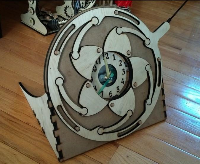 Laser Cut Iris Clock