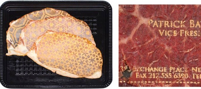 laser cut meat cards
