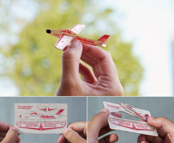 creative promotional product ideas - laser cut glider business card