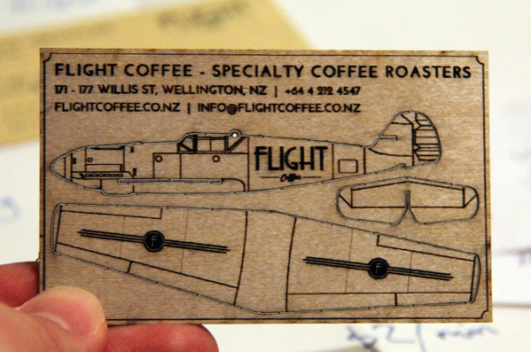Flight Coffee Business Cards