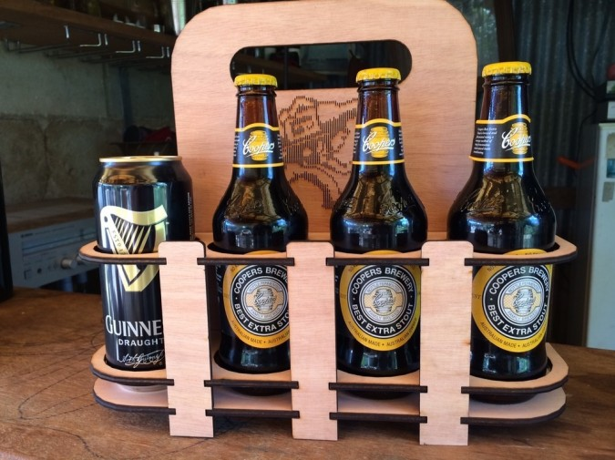 Laser Cut Beer Caddy Tom Keddie