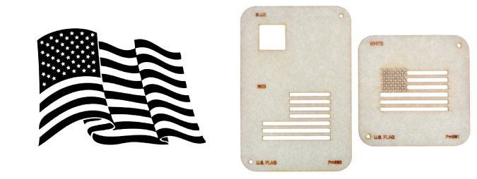 memorial day laser cut flag stencils