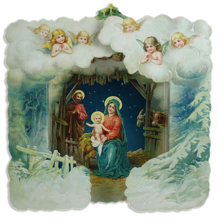 Vintage Religious Nativity Christmas Ornament: Modernizing Vintage Crafts With Laser Cutting