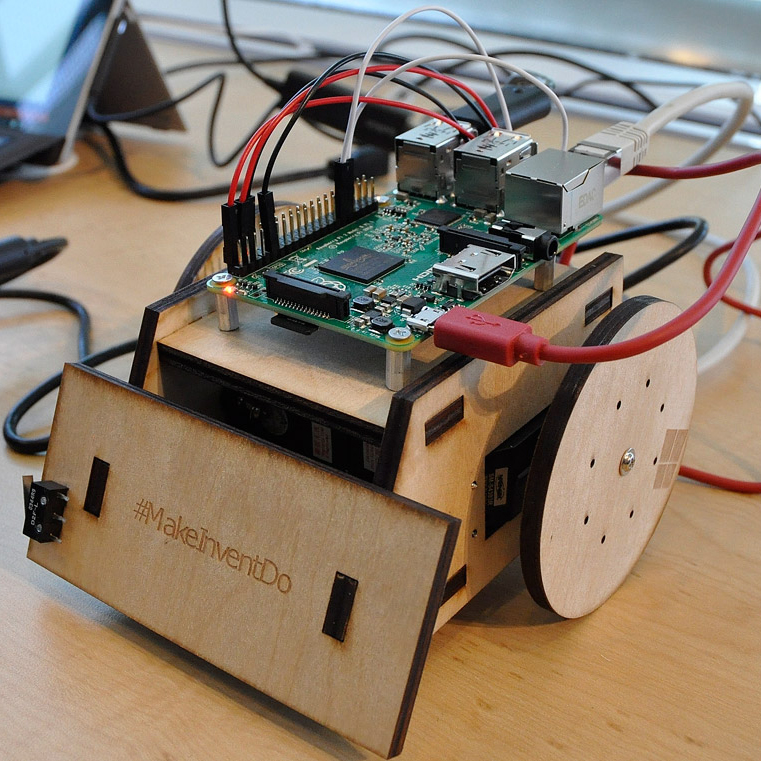 Microsoft Laser Cut Sumo Robot