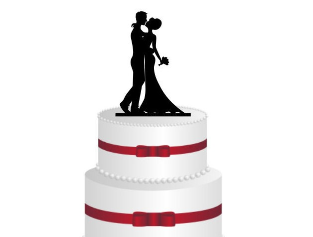 silhouette wedding cake cutters in with laser cut cake toppers ponoko 19822