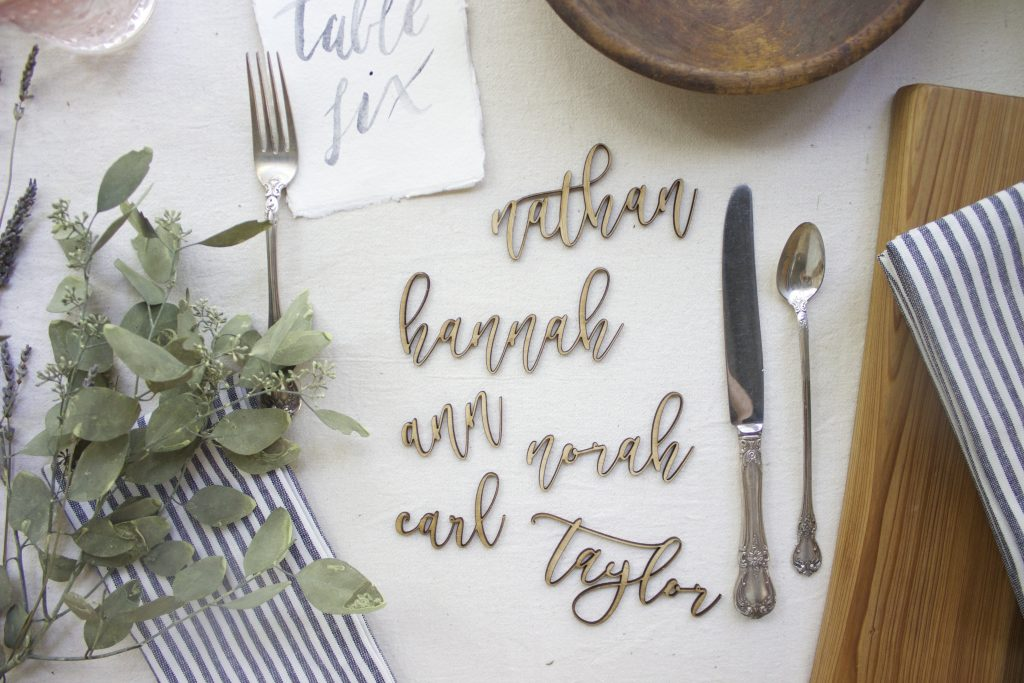 Little Blue Chair Wedding Decorations - Text Table Numbers
