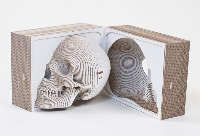 cardboard-laser-cut-skull
