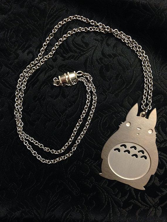 Laser cut Totoro necklace