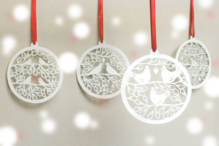 Craftylou2 Laser Cut Christmas Ornament