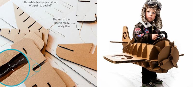 Laser cut cardboard costume by Aidan Chopra