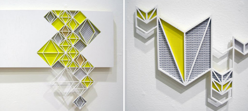 Laser cut white acrylic artwork from Sandra Fettingis
