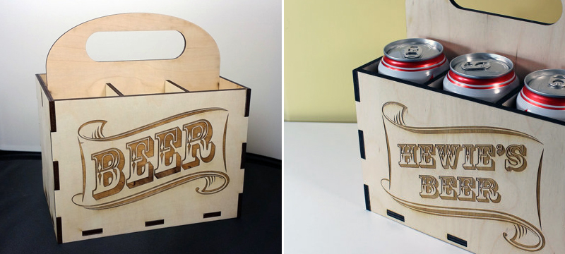 Laser cut birch beer case from nygaarddesign