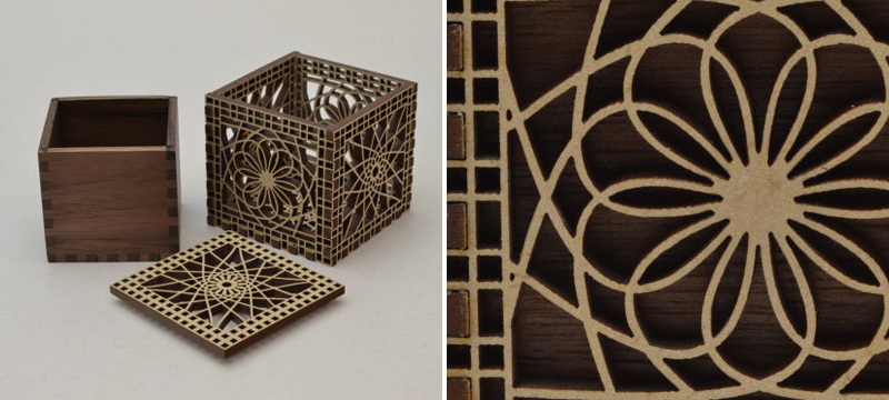 Laser cut MDF decorative boxes from CedarStreetDesign
