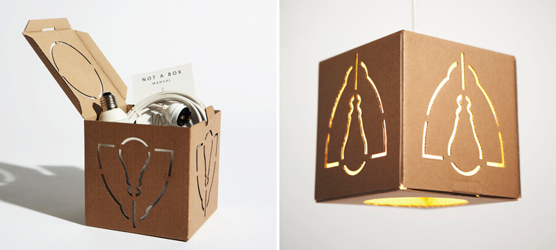 Laser cut cardboard lamp by David Graas