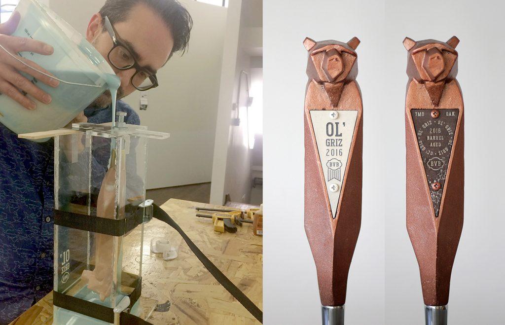 Boone Valley Brewing Ol Griz Custom Beer Tap Handles