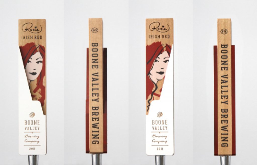 Boone Valley Brewing Roxie Red Custom Beer Tap Handles