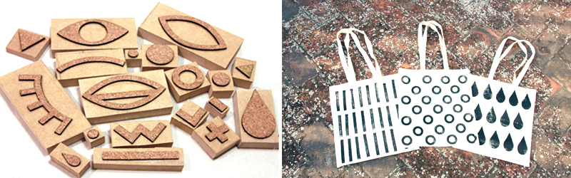Laser Cut Cork Stamps