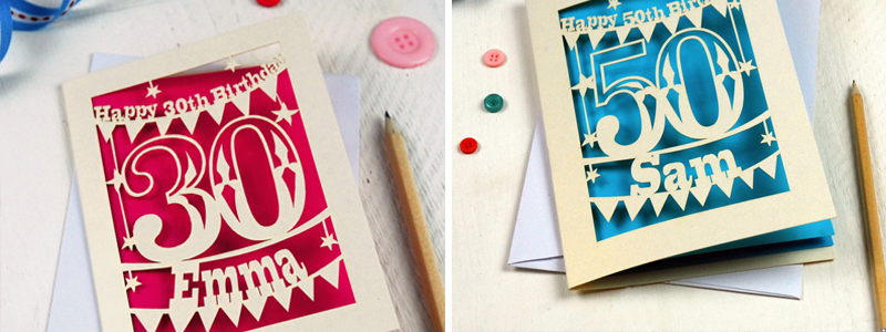 Laser cut cardstock greeting cards from pogofandango