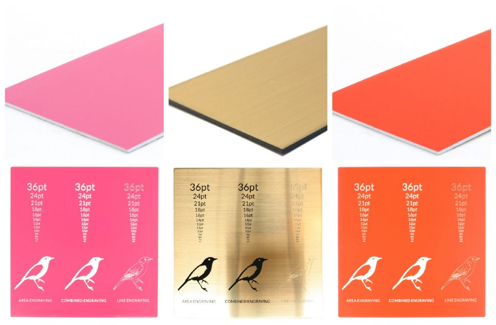 Pink Gold Orange Acrylic Sheets And Engraving