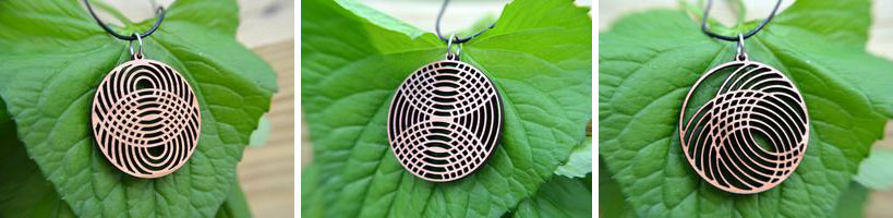 GioGio Design Laser Cut Bamboo Circle Necklaces