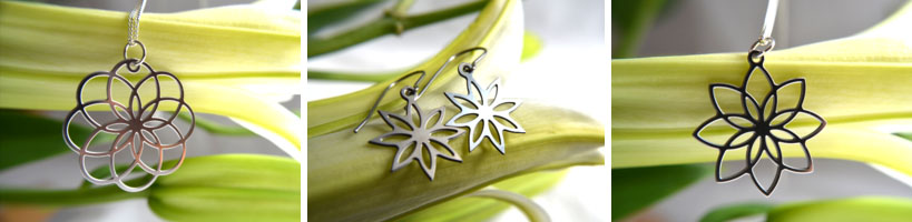 GioGio Design Laser Cut Floral Metal Jewelery