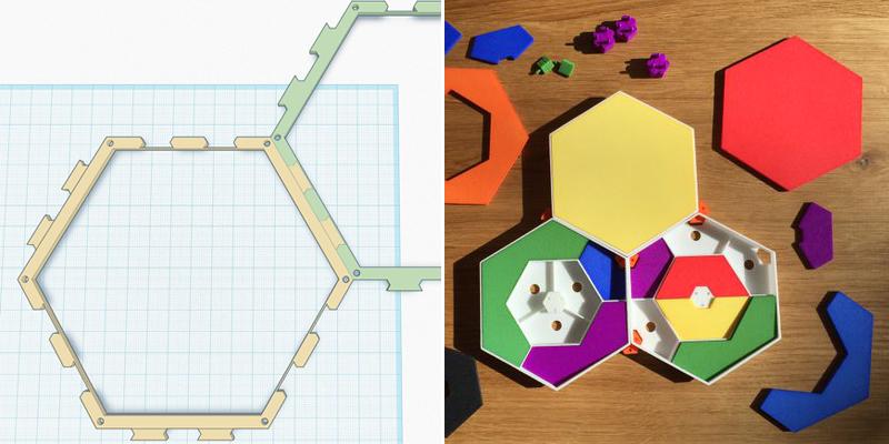 Sayre Brothers PentaHex Board Game Paper Prototype