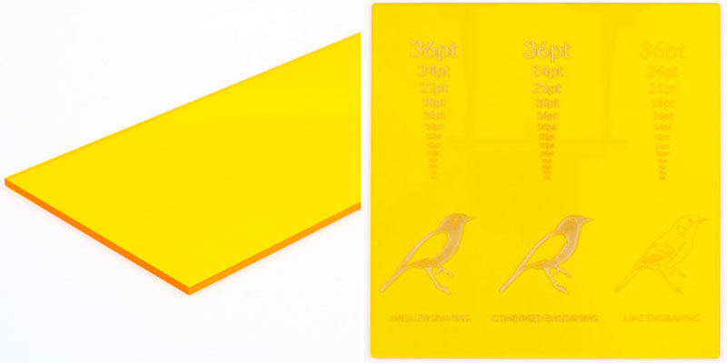 Yellow Tinted Acrylic Sheet