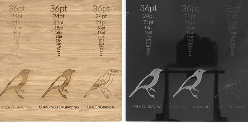 Bamboo And Acrylic Laser Engraving Comparison