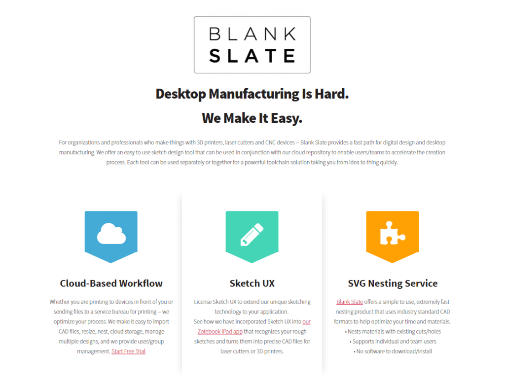 Blank Slate Automated Nesting Software Tool