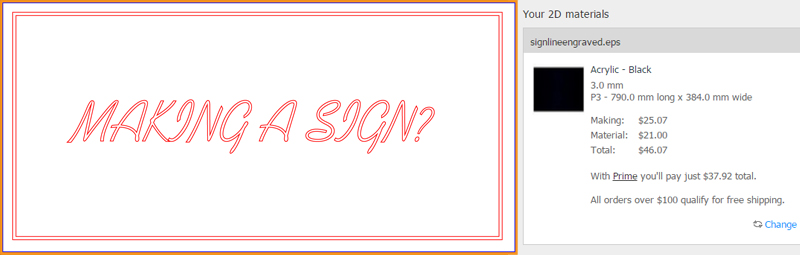 Sign Line Laser Engraving Cost Comparison