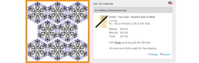 Snowflake Area Laser Engraving Cost Comparison